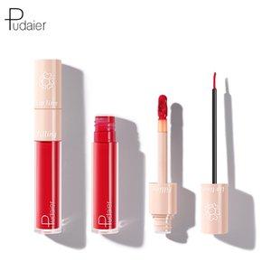 Pudaier double-head liquid lipstick lip liner velvet matte matte moisturizing dual-use lip glaze makeup OEM