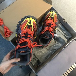 Designer Triplo Homens calçados casuais Track.2 Trainers Sneakers Mulheres sapatos Star Fashion TRACK Luxo 2,0 Sneakers sola de borracha macia