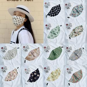 Imprimé dames masque crème solaire d'été antipoussière masques lavables mince soie artificielle perméable à l'air masque visage élargie XD23782