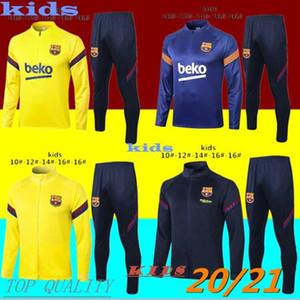 top 2020 202 Barcelona Kinder Trainingsanzug Jacke 20 21 Messi Trainingsanzug Fußball Trainingsanzug Sport Joggingbekleidung Survetement de foot chand