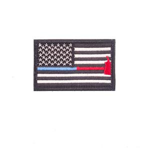 18 цветов флаг США патчей Bundle American Thin Blue Line полиция Флаг Вышитой Мораль значок Patch AHF482