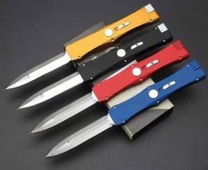 4 couleurs seule action de D / E classiques de Custom lame chasse couteau satin couteaux de camping