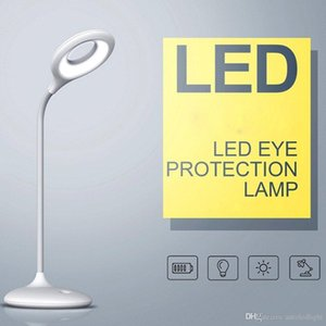 Rechargable LED Office Lamp with 3 Dimmable Levels,3W Cordless Desk Lamp with USB Port - White