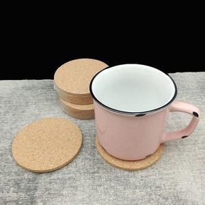 Posavasos de corcho Mantel bebida del vino del corcho Mats Mats Bebida del partido de la creativa Mat personalizable regalo de la taza de té del cojín redondo clásico llano EEA1783