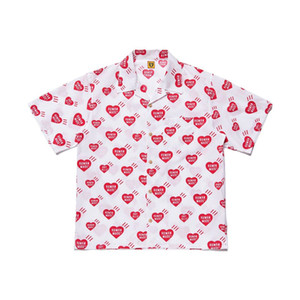 Hommes Designer T Shirts Fashion MADE 20SS Pocket HUMAN Chemise à manches courtes plein d'amour Hawaï en vrac Chemise Casual High Street S-XL