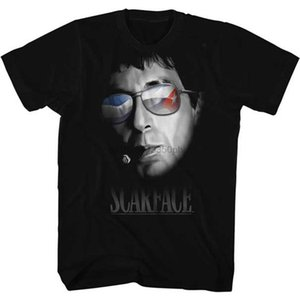 American Classic Scarface 1980s Gangster Criminal Movie Every Dog Portrait Sunglasses Adult T-Shirt Summer T Shirt Print Style