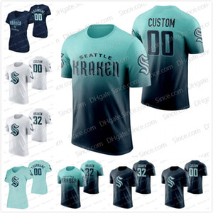 Custom ANY NAME NUMBER Seattle Kraken 2021 Pullover Limited Edition Black Grey White T-shirt Jersey The 32nd Newest Team Men Women Youth