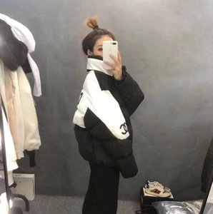 Wintermantel weiblicher Winter Baumwolle gefütterte Jacke verdickt kleiner warmer Duft Wind web Berühmtheit gleicher Stil Baumwolle-gepolsterte Kleidung Baumwolle-pa
