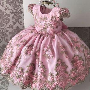 Elegant Girls Princess Dress 2020 Children Evening Party Dress Girl Kids Flower Girl Wedding Gown 1 To 10 Years Birthday Dresses