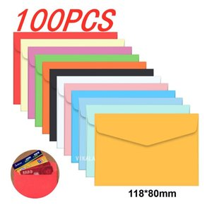 100pc  lot Candy color mini envelopes DIY Multifunction Craft Paper Envelope For Letter Paper Postcards School Material