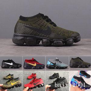 Nike Vapormax flyknit air max  kids Presto air flari Running Shoes Children Athletic Shoes Boys Girls Kids cushion Training Black orange purple Sports Sneaker shoes T-6FR