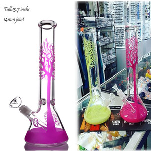 Tall Bong Glass Bubbler Downstem Perc Glass Water Pipes Heady Dab Rigs Ice Hookahs Shisha Unique Bong With 14mm Bowl