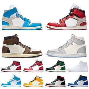 scarpe di alta qualità di pallacanestro 1s uomini donne 1 Mens Trainers Cactus Jack Gioco Reale UNC Bloodline allevati moda Athletic Sneakers Sport