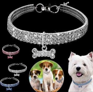 Bling Rhinestone Pet Dog Cat Collar Crystal Puppy Chihuahua Collars Leash For Small Medium Dogs Mascotas Diamond Jewelry Free Shipping