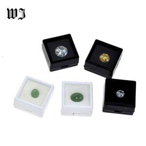 Оптовые Бриллиантовые Diamonds Box Сыпучие Diamond Jewelry витринного держатель Gem Show Контейнер для хранения Box Пластиковые Белый Черный CX200716