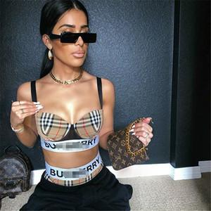 Роскошная сексуальное бикини Swimsuits Двухсекционного Дизайнер Классических нашивок печать Женщина Купальники Высокого качество Bodysuit Купальный костюм Пляжный