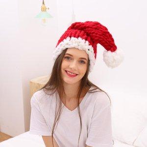 عيد الميلاد قبعة اليدوية محبوك أيسلندا الصوف السميك هات الموضوع الرئيسي للأطفال وطويل الذيل الكبار الطفل متاح