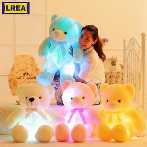 LREA 50cm Cojines Peluş Karikatür Ayı Yaratıcı Işık Yukarı LED İçin Çocuk As A Oyuncak Veya Yetişkin Yatak Kanepe Minder Kalu #