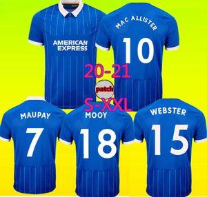 호브 알비온 20 21 덩크 축구 유니폼 벤자민 웹스터 TROSSARD MAUPAY 맥 Allister 2020 2021 camiseta 드 푸 웃볼 축구 셔츠 태국
