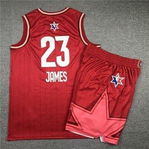 13 JERSEYS BASKETBALL JERSEYS SPORTS WEARS TOP S-XXL VEST ALL STARS BLUE RED Cheap stitched Basketball jerseys