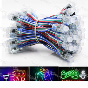 LED Modules Sign in WS2811 IC Led Pixel Module 12mm Waterproof Changeable Point Light DC5V RGB String Christmas Addressable Light DHL