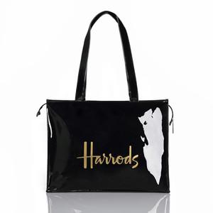 Horizontal Edition Eco Friendly Tote Shopping Bag Women Reusable Waterproof PVC Shoulder Bag Large Capacity London Style Handbag CX200715