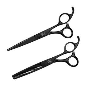 Professional Hairdressing Scissors black hair scissors set cutting barber salon haircut thinning shears hairdressing scissors