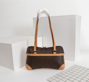 Designer Luxury Handbags Purses Old Flower Middle Ages Armpit Box Bag Women Brand Classic Style Genuine Leather Shoulder Bags