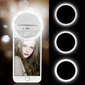 Charge USB LED Selfie Bague Light Mobile Phone Lentille LED Selfie Lamping Bague pour iPhone pour Samsung Xiaomi Téléphone Selfie Light