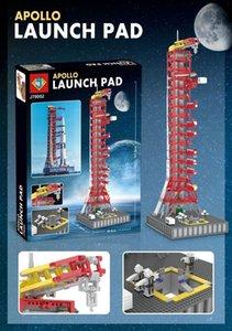 novo New 121CM alta 3561PCS Espacial Apollo Saturn-V Lançamento Umbilical torre para 21309 Fit Technic Blocos Tijolos Presentes de Natal 2020