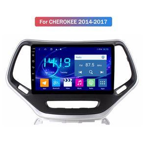 شاشة 4G + 64G HD كبيرة تعمل باللمس لوحة سيارة لاعب دي في دي لسيارة جيب شيروكي 2014 2015 2016 2017 مع نظام أندرويد