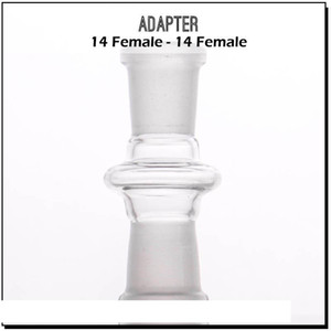 Wholesale glass adapter 10mm 14mm 18mm female-female joint for glass wapter pipe glss bong oil rig adapters free shipping