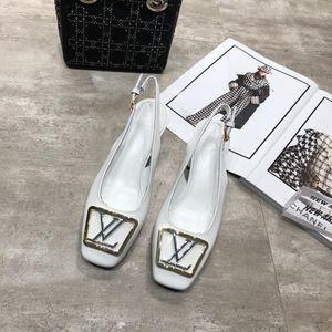 Hot 2020 MADELEINE Slingback Heels lacquered calfskin classic fashion woman designer high heel luxury water pump Dress dinner shoes 34-40