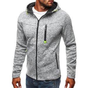 NEW 열 지퍼 실행 재킷 봄 가을 남성 후드 Sweatershirt 스포츠 및 라이드 오토바이 의류 남성 운동 스트리트