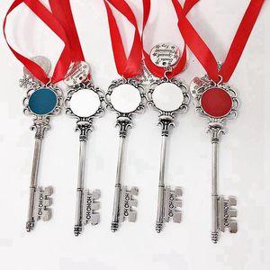 Noel Anahtarlık ile Kırmızı Ropoe Metal Anahtarlık Ruj Tutucu Kız Hediye Chapstick Tutucu decoraton Chriatmas 08