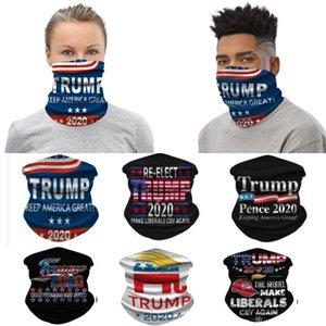 야외 WX20-33 2020 트럼프 자전거 페이스 마스크 먼지 바람 모자 헤드 밴드 두건 넥 게이터 Headwrap 발라 클라 파티 얼굴 마스크