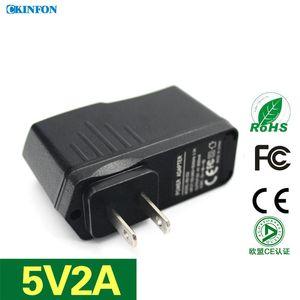 50Pcs / Lot US Plug Power Adapter 5V2A USB планшетный компьютер Универсальное зарядное устройство абсолютно новый IC Схема