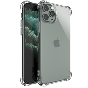 Transparent Shockproof TPU Phone Case For iPhone 11 Pro XS Max SE 2 XR X 8 7 Samsung S20 Anti-knock Clear Case Cover