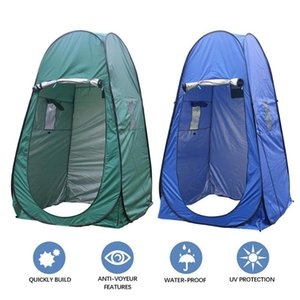 Outdoor Up Green Tent 180t Camping Shower Bathroom Privacy Toilet Changing Room Single Moving Folding Tent For Hiking Travel