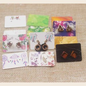 100pc per lot Dreamcatcher earring card mutli design stud earring paper package card marbel design dispaly card3.5*2.5cm