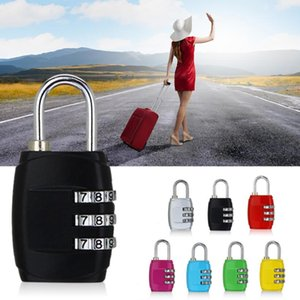 Nice 3 Digit Dial Combination Code Number Lock Padlock For Luggage Zipper Bag Backpack Handbag Suitcase Drawer durable Locks with box gift