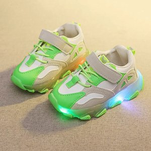 Soft Light Sneakers Chidren Boy Girls Baby Running Shoes Luminous For 21-30 Led Kids Glowing Sneakers For Size Sole Huwrj