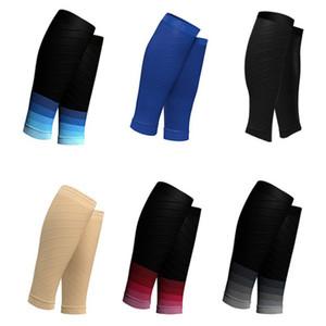 1 Paar Preßhülse Radfahren Fußball Schienbeinschutz atmungsaktive Laufbeinlinge Socken Basketball Calf Sleeves
