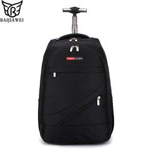 BAIJIAWEI Men's Trolley Backpack Business Travel Bag Large Capacity Waterproof Duffle Bag Laptop Luggage Backpacks CX200718