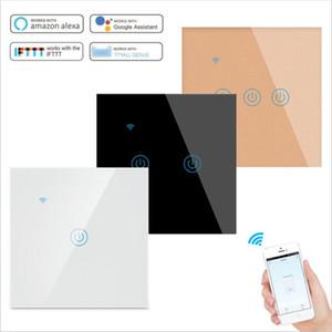 Tocco Smart Switch Interruttore luce Interruttore parete Pannello 1/2/3 Gang Tuya wifi interruttore della luce del lavoro standard UE con Alexa Home page di Google