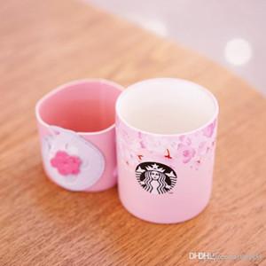 Nouveau Starbucks authentique Sakura Cat rose tasse de café de couverture en cuir cerisier saison Céramique tasse 355M 22225552