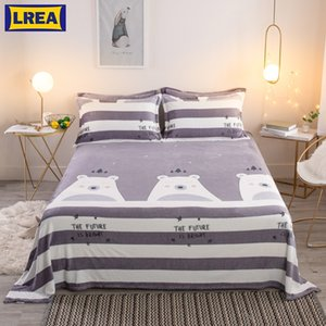 LREA cheap cartoon MR BEAR fleece blanket bedding children cover on the bed throw bedspread blanket for sofa