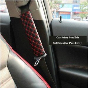 car-styling One Pair Car Safety Belt Shoulder Pad Cover Seat Belt Strap Soft Shoulder Pads Cover Cushion Harness Pad Protector ik07#
