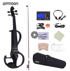 Dimensioni ammoon completa 4/4 di violino del violino di legno solido elettrico silenzioso Style-3 Fingerboard Pioli Mentoniera Cordiera