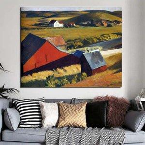 Edward Hopper Distant дома холст картины печати Гостиная Украшение Современная картина маслом искусства стены плакаты Фотографии HD
